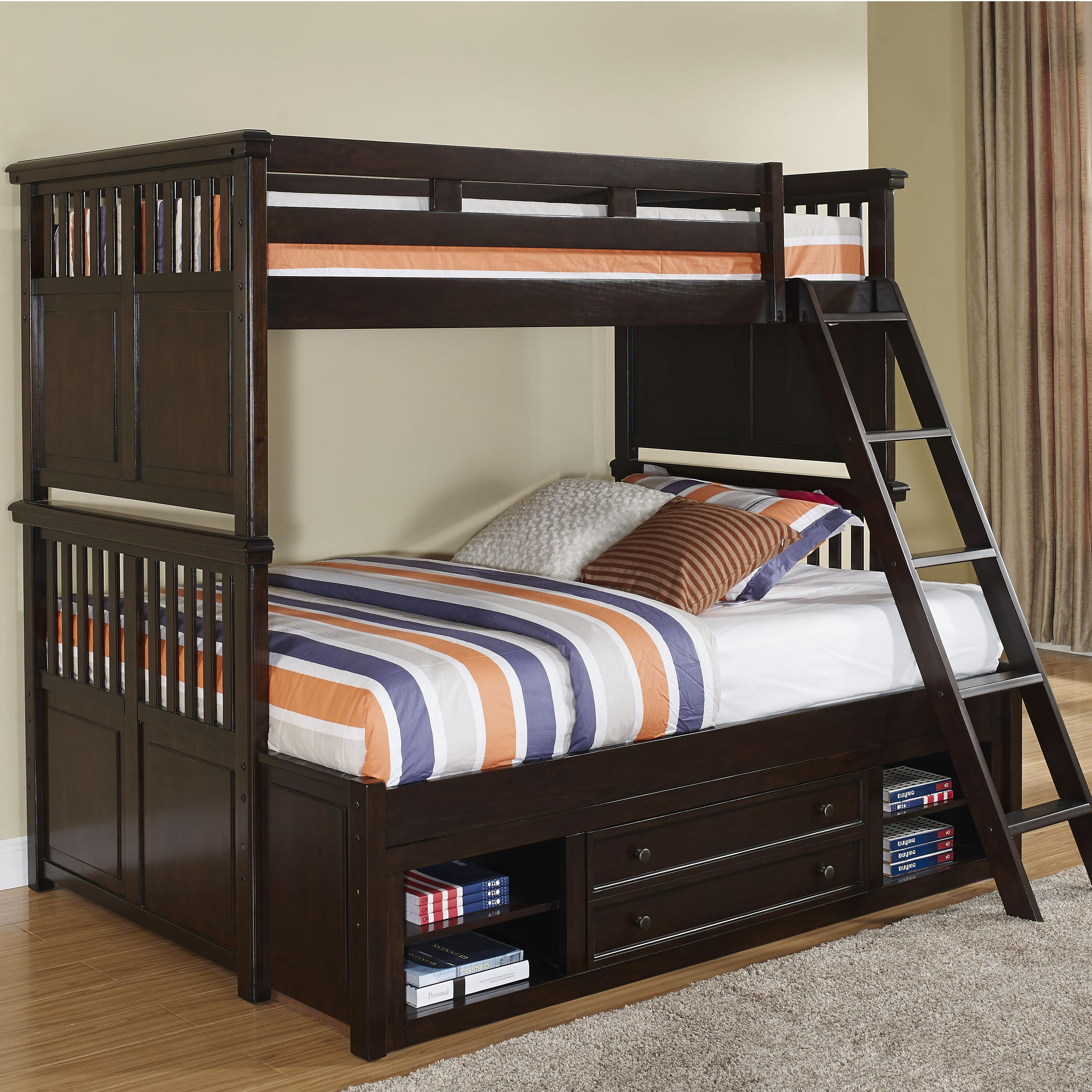 New Classic Canyon Ridge Twin/Full Bunk Bed with Storage - Item Number: 05-230-518+538+438+598