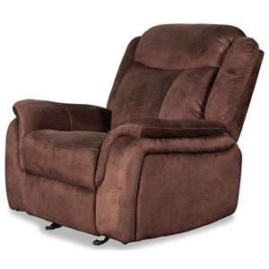 Casual Glider Recliner with Power Footrest and Built-In USB Port