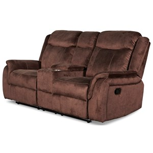 Casual Console Loveseat with Dual Recliners