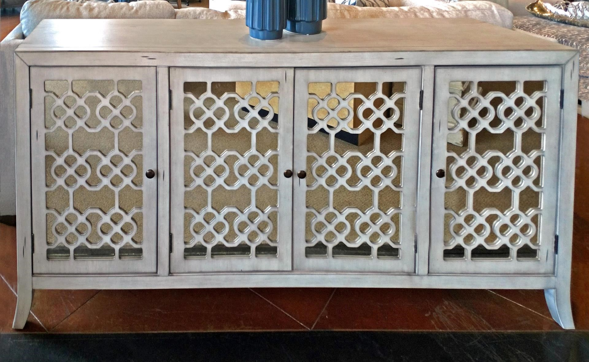 New Classic Charlotte Four Door Credenza - Item Number: TA1011-4-CGY