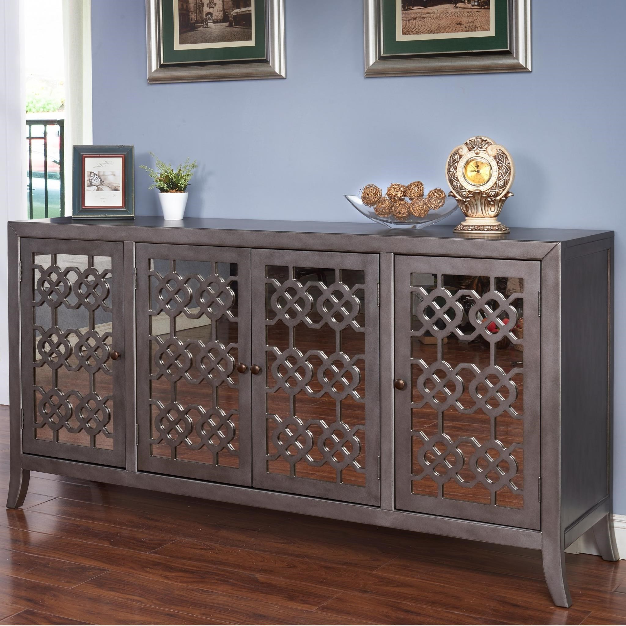 New Classic Charlotte Ta1011 4 Grp Four Door Credenza With