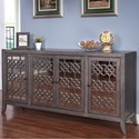 New Classic Charlotte Four Door Credenza - Item Number: TA1011-4-GRP