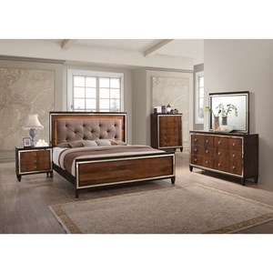 New Classic Claire King Bedroom Group