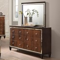 New Classic Claire Dresser and Mirror Set - Item Number: B9720-050+060
