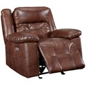 New Classic Clayton Casual Power Glider Recliner with Power Headrest