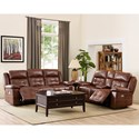 New Classic Clayton Casual Power Console Loveseat with Power Headrests
