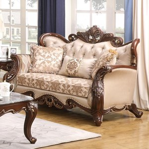 Traditional Loveseat with Button Tufting