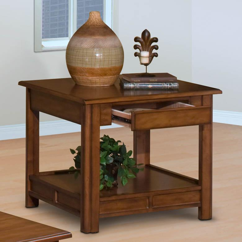 New Classic Crestline Crestline End Table, Bark - Item Number: 30-830-20