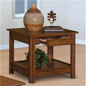 New Classic Crestline Crestline End Table, Bark