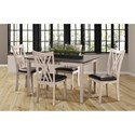 New Classic Paige 5 Piece Dining Set - Item Number: D118-50S