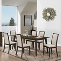 New Classic Studio 26 7 Piece Table and Chair Set - Item Number: D2626-10+6x20