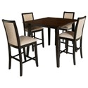New Classic Studio 26 Counter Height Table and Chair Set - Item Number: D2626-12+4x22