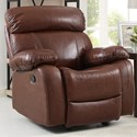 New Classic Dante Casual Glider Recliner with Pillow Arms - Image Shown May Not Represent Exact Features Indicated