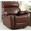 New Classic Dante Casual Recliner with Pillow Arms - Image Shown May Not Represent Exact Features Indicated
