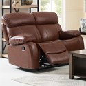 New Classic Dante Casual Reclining Loveseat with Pillow Arms - Image Shown May Not Represent Exact Features Indicated