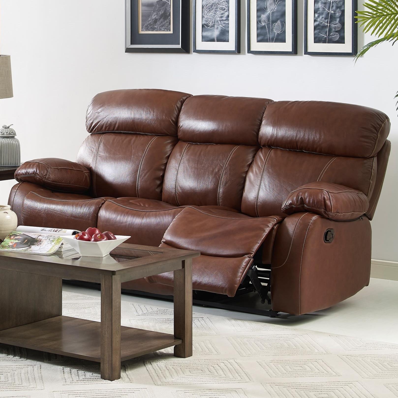 New Classic Dante Reclining Sofa - Item Number: L2041-30-LBN