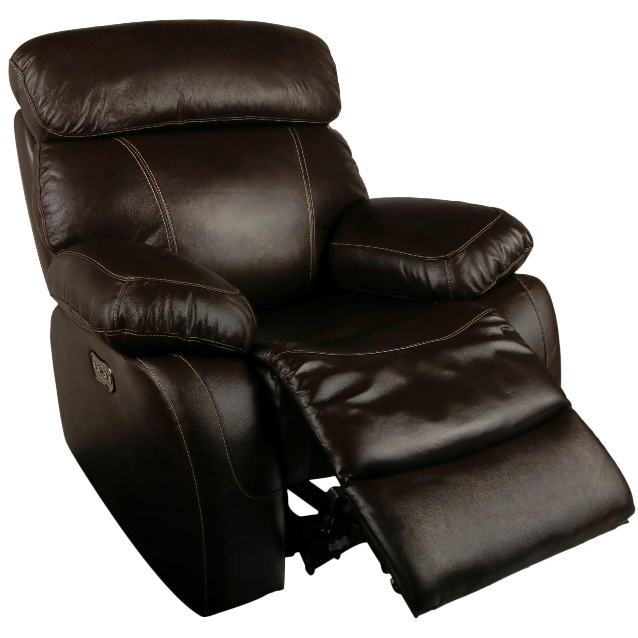 Casual Power Recliner With Power Headrest Dante Leather