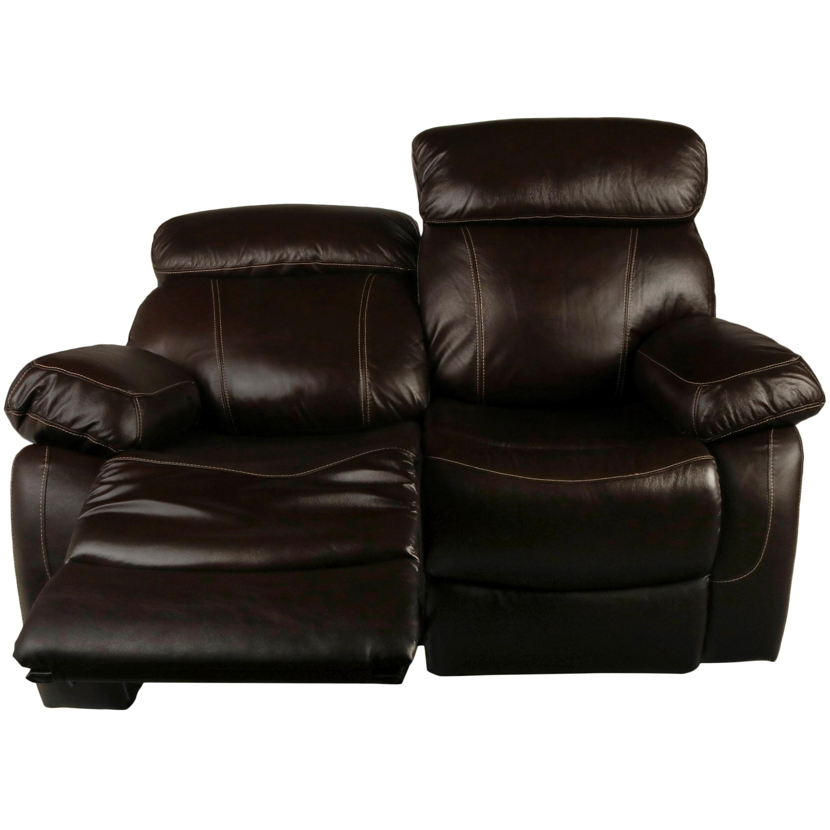 New Classic Dante Leather Casual Power Reclining Loveseat