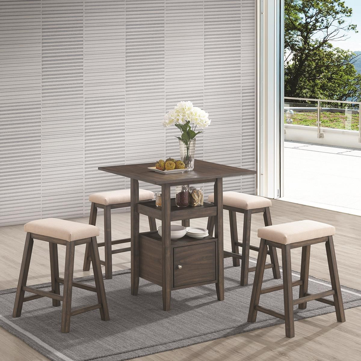 new classic derby 5 piece counter height dining set