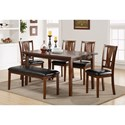 New Classic Dixon Dining Set with Bench - Item Number: D1426-60S