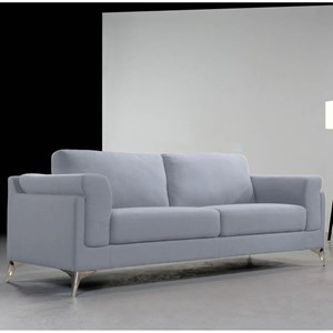 Contemporary Sofa with Exposed Metal Legs