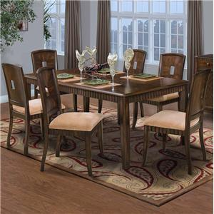 New Classic Edgemont Standard Rectangle Dining Table Set
