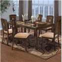 New Classic Edgemont Standard Rectangle Dining Table Set - Item Number: 40-112-10+6x20