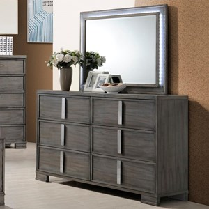 New Classic Edgewater Dresser and Mirror Set