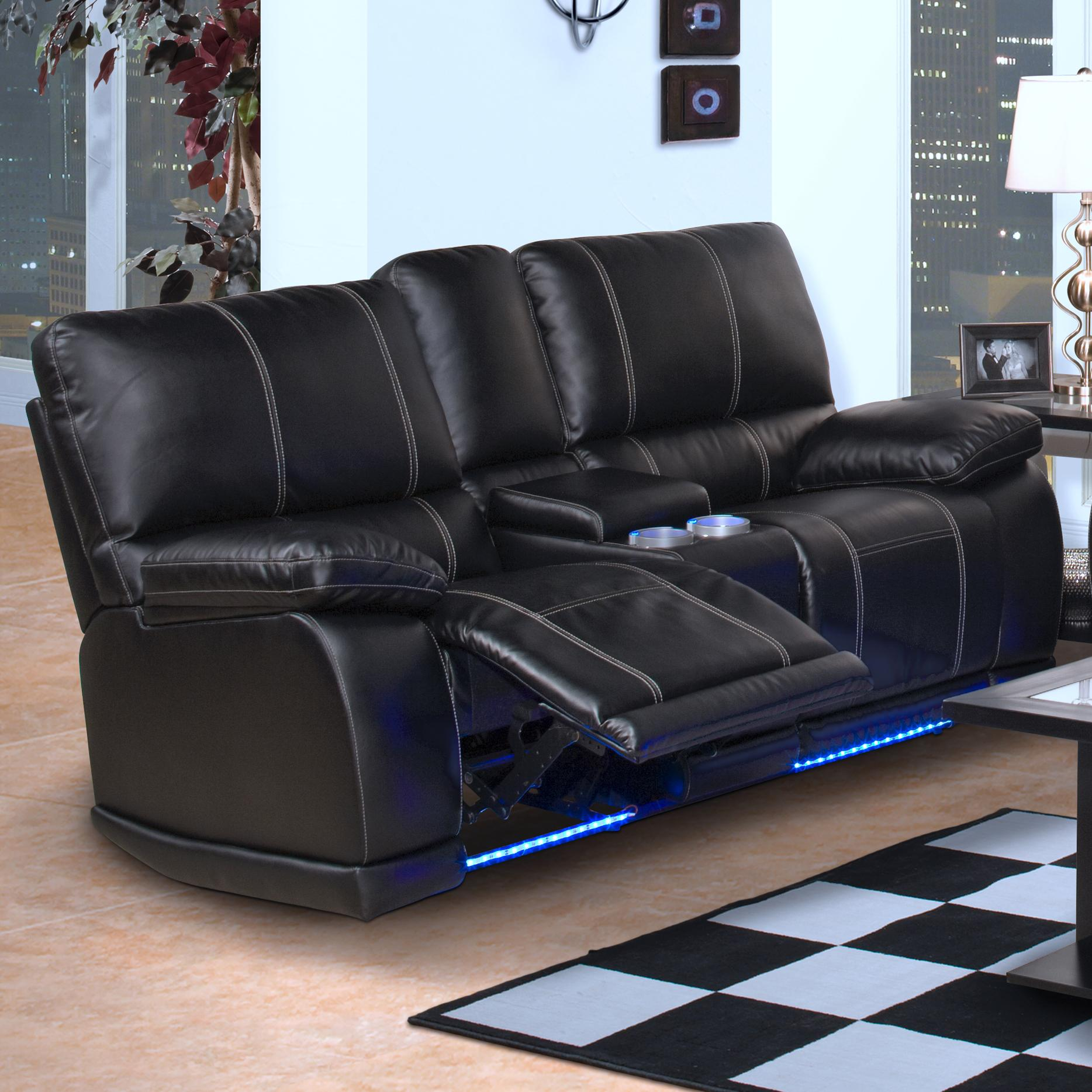 New classic electra contemporary dual recliner console loveseat with cup holders and storage Loveseat with cup holders