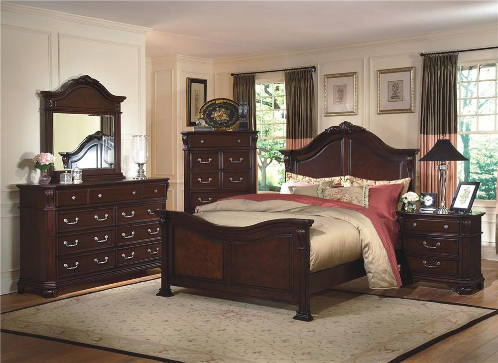 New Classic Emilie 4 Piece Bedroom Group - Item Number: 1841 Q 4 Piece