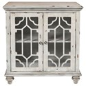 New Classic Enzo Glass Front Cabinet with Doors - Item Number: TA3800-GRY