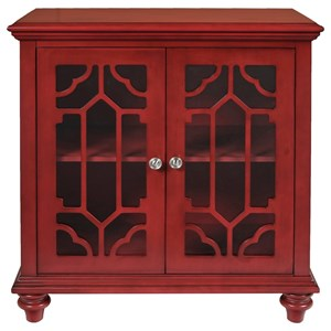 New Classic Enzo Glass Front Cabinet with Doors