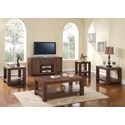 New Classic Fairway Rectangular End Table with One Shelf