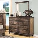 New Classic Fallbrook Dresser and Mirror Set - Item Number: 00-446-050+060