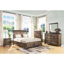 New Classic Fallbrook Eight Drawer Dresser and Mirror with Moulded Detailing