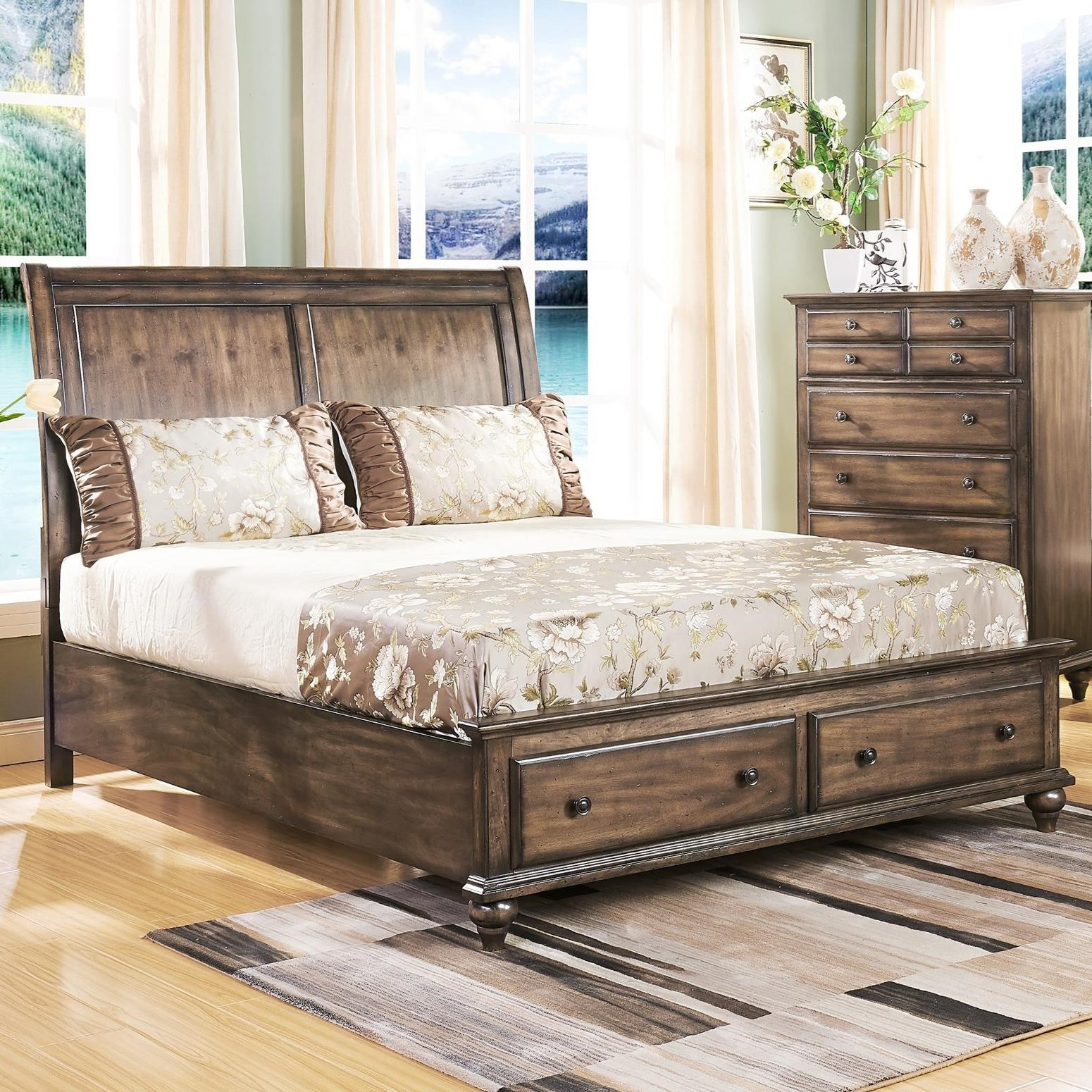 Ashley Furniture Horseheads Ny: New Classic Fallbrook Queen Sleigh Bed With Storage
