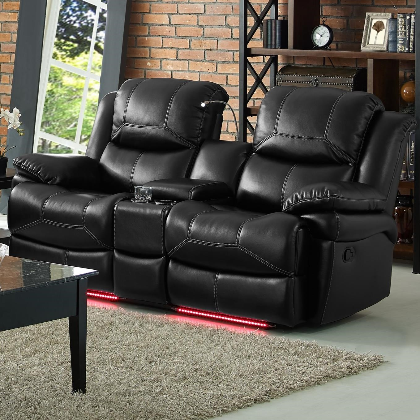 New Classic Flynn Reclining Power Console Loveseat - Item Number 22-2177-25P & New Classic Flynn Contemporary Reclining Power Loveseat with ... islam-shia.org