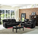 New Classic Flynn Contemporary Reclining Power Sofa with Pillow Arms