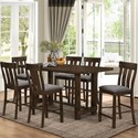 New Classic Frisco 7 Piece Counter Table Set - Item Number: D2550-12+6x22