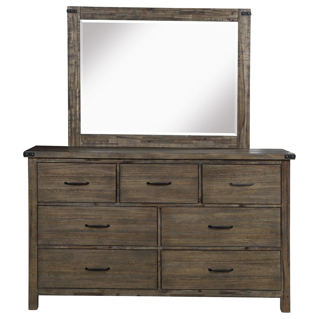 Leon Dresser and Mirror Set by NC at Walker's Furniture