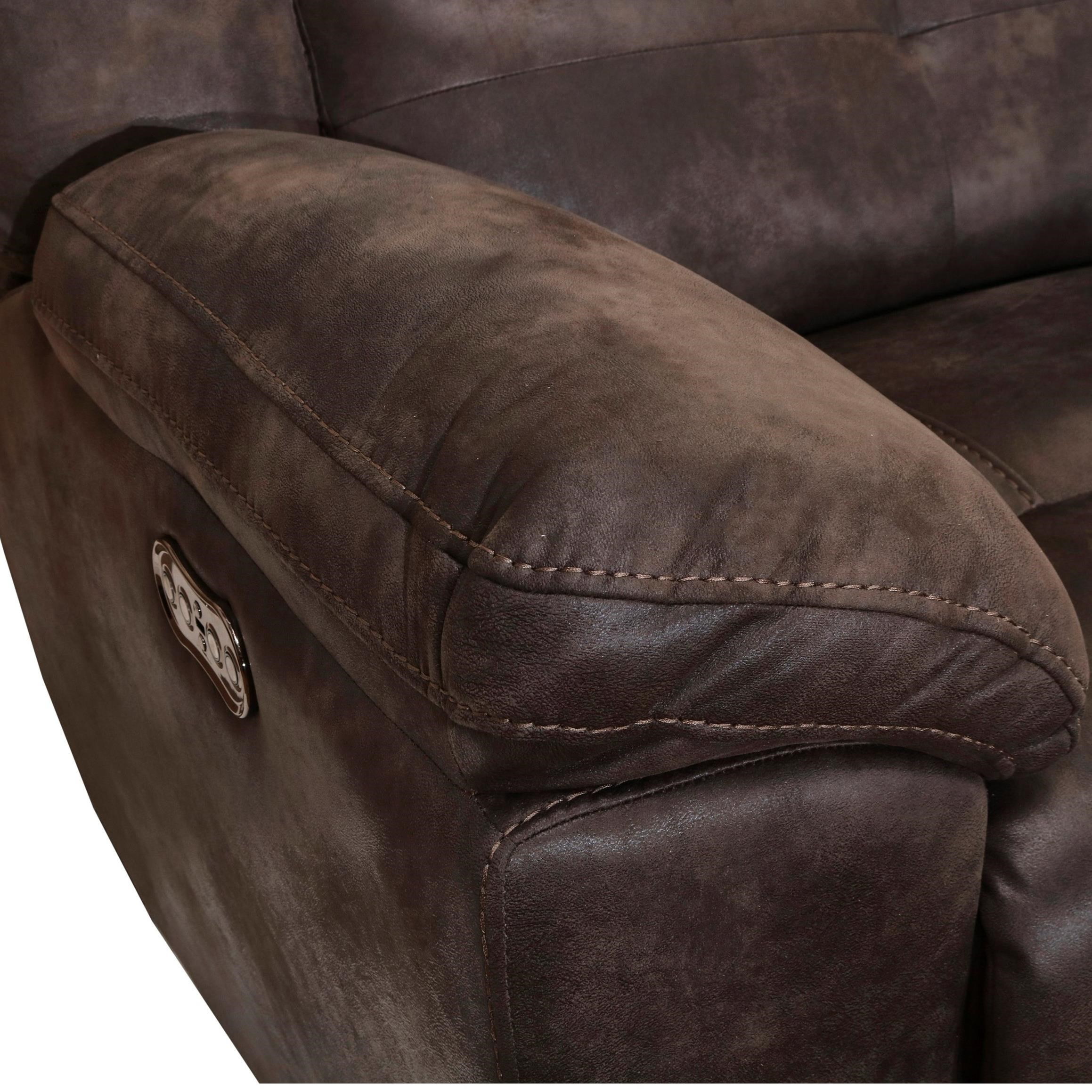Leather Sofa Repairs Bromley: New Classic Gershwin Casual Power Dual Recliner Sofa With