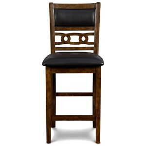 Contemporary Counter Height Chair with Upholstered Seat