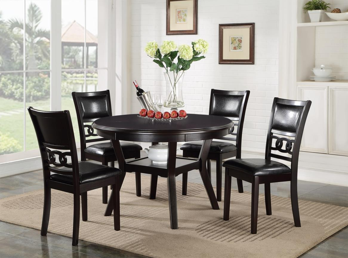 New Classic Gia D1701 50s Dining Table And Chair Set With