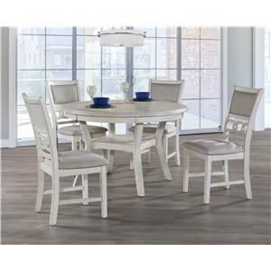 New Classic Gia Bisque Round Table & 4 Chairs