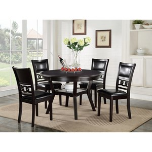 Contemporary 5-Piece Dining Table and Chair Set with Table Storage