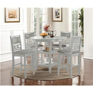New Classic Gia Bisque Counter Table & 4 Stools