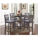 New Classic Gia Gray Counter Table & 4 Stools - Item Number: D1701-52S-GRY