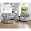 New Classic Havana Grey Reclining Sofa and Loveseat Set - Item Number: 815342249