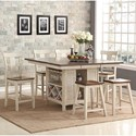 New Classic Heather 7 Piece Table Set - Item Number: D1309-12T+B+4x22+2x26