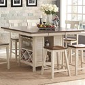 New Classic Heather Transitional Counter Height Live Edge Table - Item Number: D1309-12T+B